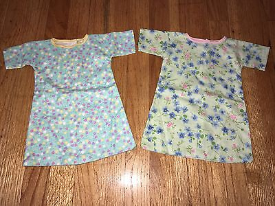 "CABBAGE PATCH KIDS CPK - VTG - 2 Pc LOT #4 - FLANNEL NIGHTGOWN PJs for 16"" DOLL"