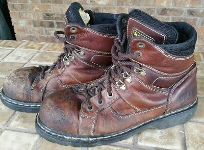 Dr Martens Industrial Steel Toe Brown Boots Doc US 11M Doc