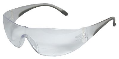Clear Scratch-Resistant Bifocal Safety Reading Glasses, +1.25 Diopter
