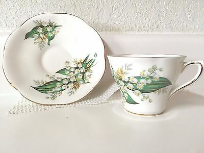 Royal Seagrave Bone China Tea Cup and Saucer made in England Lily of the Valley