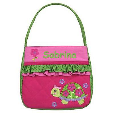 Personalized Stephen Joseph Quilted Purse Turtle Custom Name Great Girl Gift!