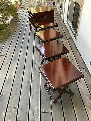 Ethan Allen, Mahogany Queen Ann end table w/ 4 pull out TV trays