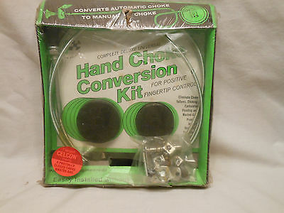 Vintage Hand Choke Conversion Kit /Flanged Celcon Caps /Sealed