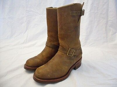 "Chippewa 27911 Brown Leather 11"" Engineer Pull On Boots Mens Size 7D"