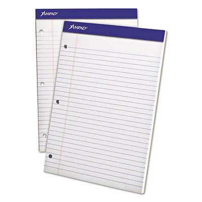 Double Sheets Pad, Legal/Wide, 8 1/2 x 11 3/4, White, 100 Sheets 20-244