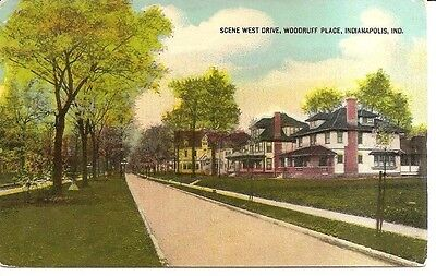 Vintage Postcard Indianapolis Indiana Woodruff Place West Drive