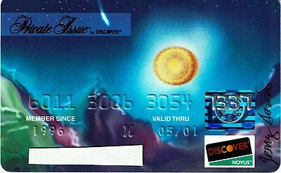 Vintage Unused Jerry Garcia Discover Private Issue Credit Card