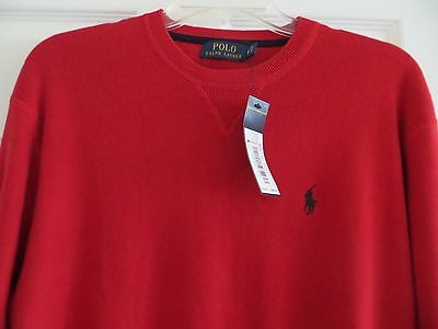 Polo Ralph Lauren Men's Red Crewneck Pullover Classic Sweater Size M NWT