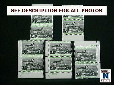 NobleSpirit NO RESERVE (TH1) Great 5x Pairs of US RW43 Duck Stamps MNH, VF