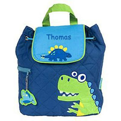 Toddler Backpack Personalized Stephen Joseph Dino Blue Custom Name