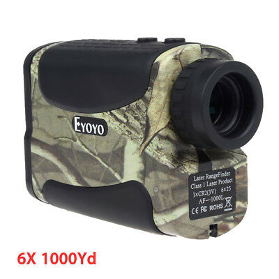 6X1000Yd Laser Range Finder Wildgame Golf Distance Speed Monocular Flagpole Camo