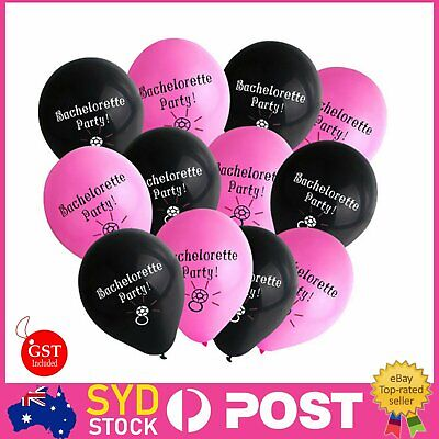 12x Bachelorette Balloons & Bride To Be Banner Hen Party Hanging Decoration Diam
