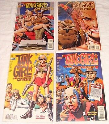 Tank Girl: The Odyssey #1-4 1 2 3 4 (Jun 1995, DC) LOT of 4 Complete Set