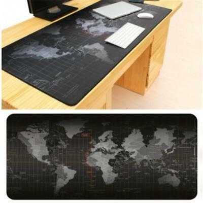 Large 2 Size Anti-Slip World Map Speed Game Mouse Pad Gaming Mat For Laptop PC