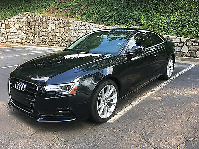 2013 Audi A5 Base 2013 Audi A5 2.0T Turbo AWD RARE 6sp Manual Black on Black Leather