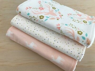 Baby Burp Cloths Set of 3, Baby Gift, Baby Shower, Meadow theme