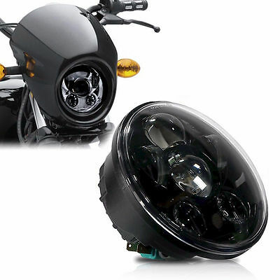 5-3/4 5.75'' inch LED Headlight Daymaker Projector For Harley Dyna Sportster 45W