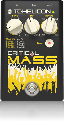 TC Helicon Critical Mass Vocal Effect Pedal