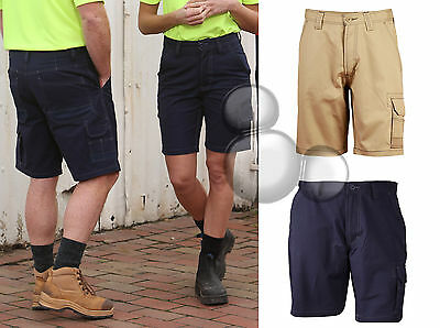 Unisex Cordura Semi Fitted Work Shorts Size 72R-112R Navy Khaki Cotton Canvas