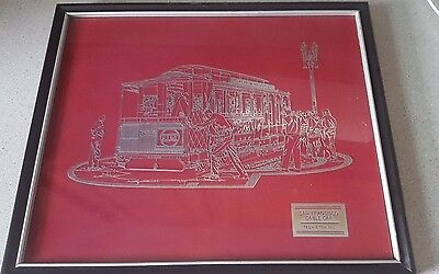 PEPSI COLA Rare Foil etched San Francisco Trolley Car Advertising Piece