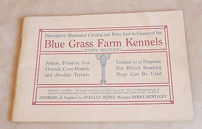 1923 Blue Grass Farm Kennels Berry Kentucky HUNTING DOGS CATALOG