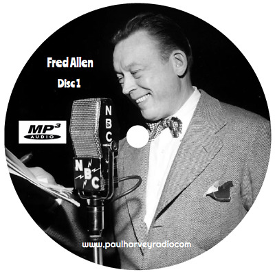 Fred Allen (179 Shows) Old Time Radio Mp3 3-Cd's