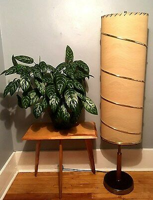 GREAT Vtg RETRO 1960s Mid Century DANISH Modern FLOOR Lamp w/UNIQUELY Long SHADE