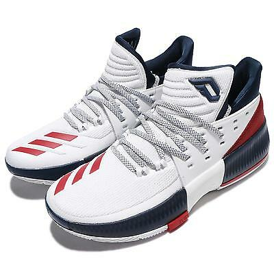 50% Off adidas Dame 3 Damian Lillard USA 4th Of July Navy Red Men Shoes BY3762