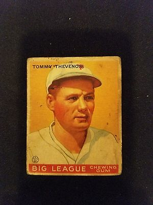 1933 Goudey Baseball Card # 36 Tommy Thevenow RC