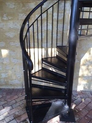 Wrought Iron Plain Bal'strade steel treads S'rcase 1400 Dim,$1270/M Height