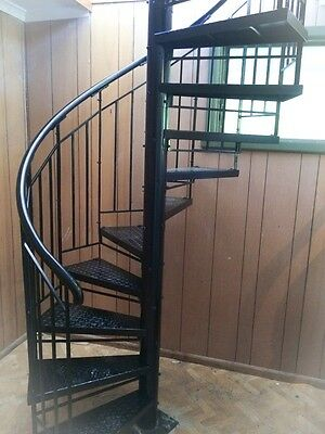 Wrought Iron Plain Bal'strade steel tread S'case 1500 dim,$1375/M Height