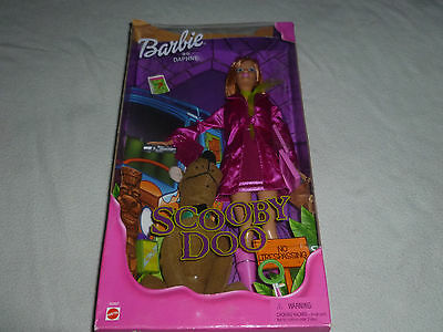 New In Box Barbie As Daphne Scooby Doo Mini Plush Toy Doll Mattel 55887 Nib 2001