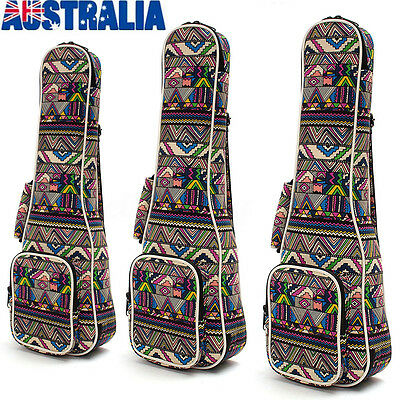 21''/23''/26'' Portable Canvas Ukulele Uke Shoulder Carry Bag Padded Case AU