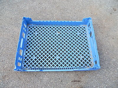 Bakery Rack Bread Cookie Tray Stacking Plastic Commercial Blue 25 @ 175.00