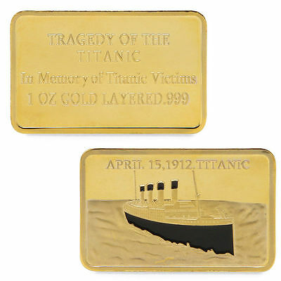 Golden Commemorative Coins Collection For Souvenir Tragedy Of The Titanic 1912