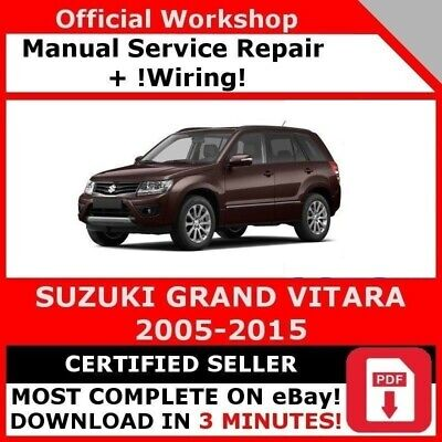suzuki workshop service manual pdf grand vitara swift jimny wagon rh picclick co uk 1999 suzuki grand vitara repair manual pdf 1999 suzuki grand vitara service manual