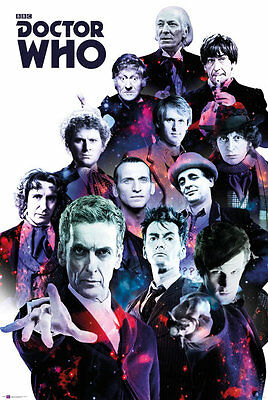 Doctor Who - Cosmos POSTER 61x91cm NEW 1st to 10th 11th 12th Doctors Dr Collage
