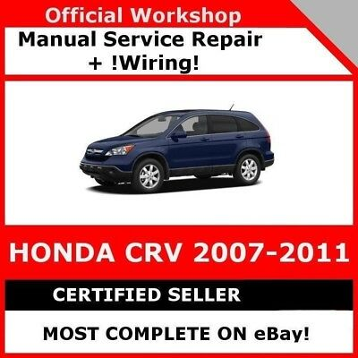 # Factory Workshop Service Repair Manual Honda Crv 2007-2011 Wiring