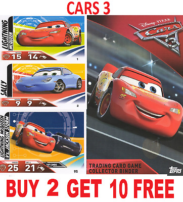 Topps Cars 3 Disney/pixar  Trading Cards #1-96 Buy 4 Get 10 Free! 1St Class Post