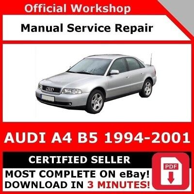 audi a4 b5 1995 2001 workshop service repair manual. Black Bedroom Furniture Sets. Home Design Ideas