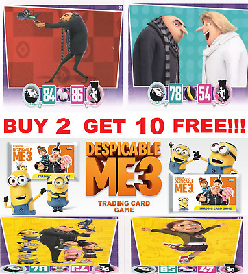 Topps DESPICABLE ME 3 TRADING CARDS  BUY 4 GET 10 FREE!! FREE 1ST CLASS POST!!!