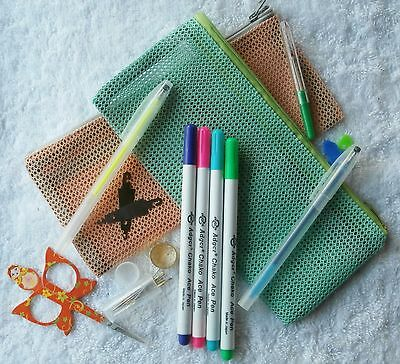 Cross Stitch Tools  Kit - With Deluxe Zippered Bag - With Bonus Free Pen