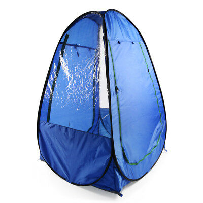 Blue Sports Pop-up Tent Pod Under The Wather Watching Viewing Sport Pop Up