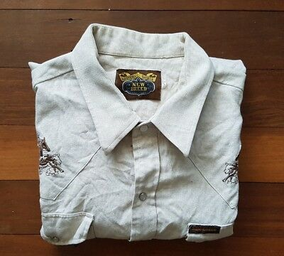 Vintage New Breed Western Shirt L / XL (refer to sizes stated) FREE SHIPPING