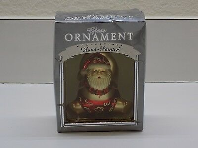 Island Heritage Hand Painted Glass Christmas Ornament Santa Hanging Around New