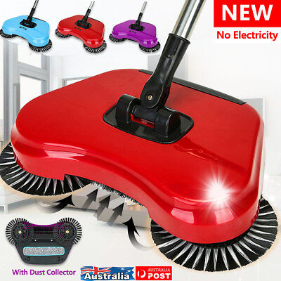 AU Spin Hand Push Broom Household Floor Dust Cleaning Sweeper Mop No Electricity
