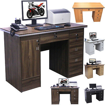 Home Office Desk Computer PC Writing Table Workstation With 3 Quality  Locks