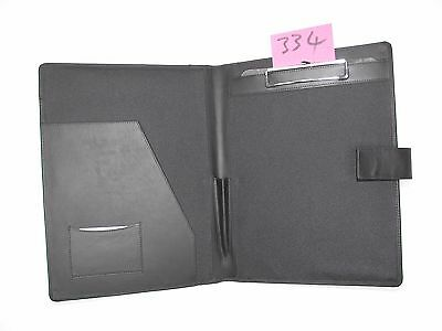 A4 Black  Leather folder with clipboard (style 334) also holds A4 diary