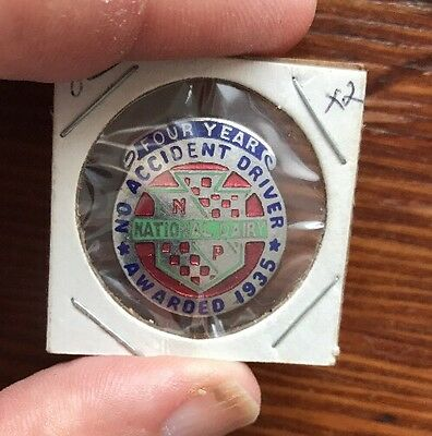 Vintage Service Pin NATIONAL DAIRY SAFE DRIVER 4 YEARS 1935