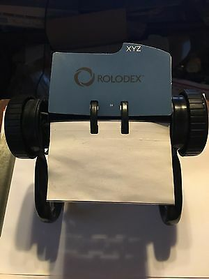 Rolodex Metal/ In Good Condition/ With Cards and Dividers